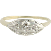 Vintage Diamond-Accented Ring - 10k Yellow & White Gold Women's 6 1/4