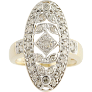 Diamond Ring - 10k Yellow & White Gold Light Brown .50ctw