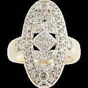 Diamond Ring - 10k Yellow & White Gold Light Brown .50ctw