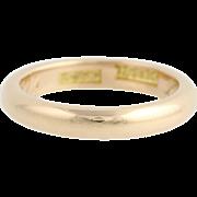 Antique Wedding Band - 14k Yellow Gold Women's Ring Circa 1913