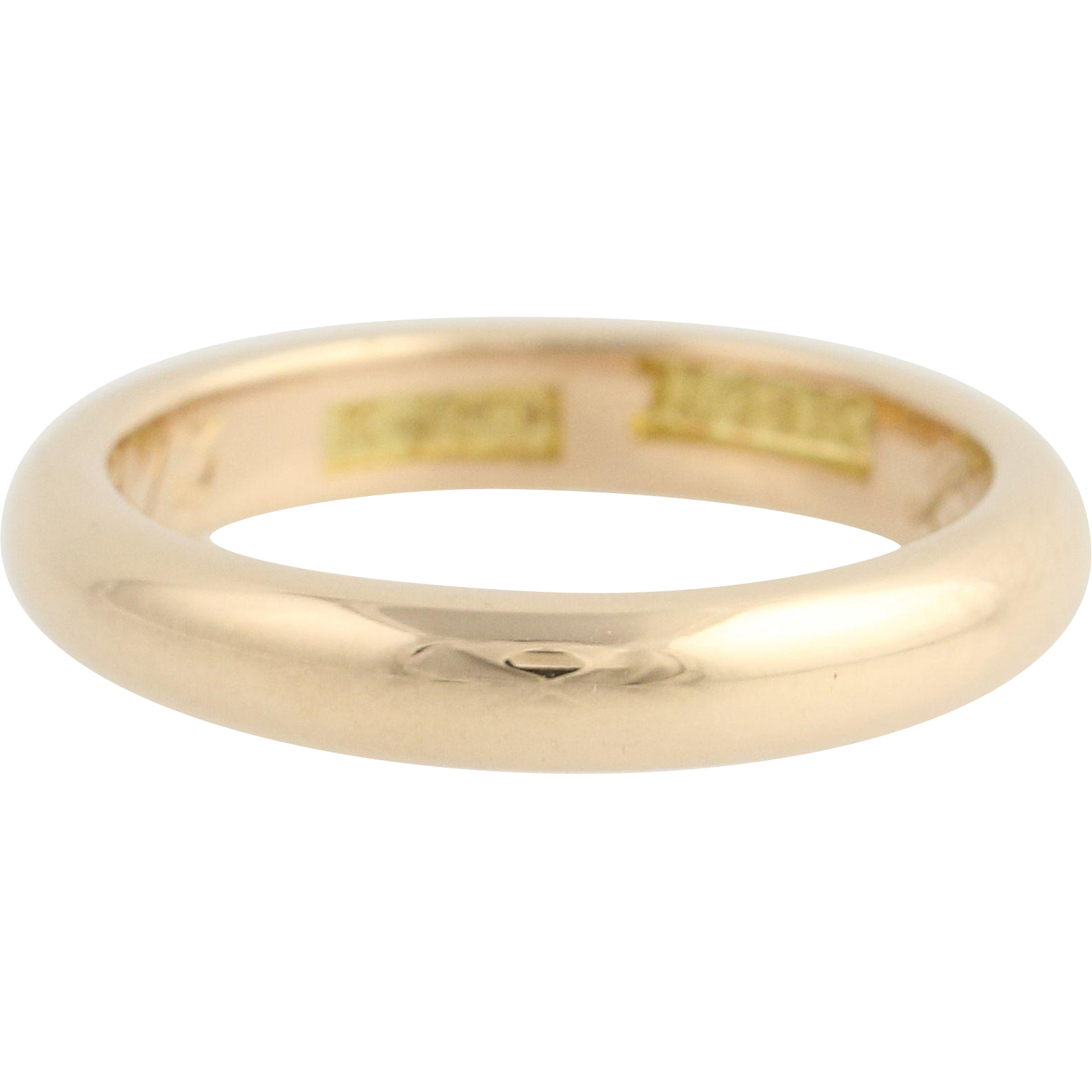 Antique Wedding Band - 14k Yellow Gold Women's Ring Circa 1913
