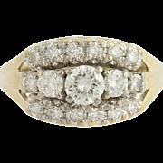 Vintage Diamond Ring - 14k Yellow & White Gold Anniversary Gift .81ctw