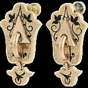 Victorian Earrings - 14k Gold & Gold Filled Antique Non-Pierced Screw-On Backs