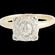 Vintage Diamond Engagement Ring - 14k White & Yellow Gold .60ctw
