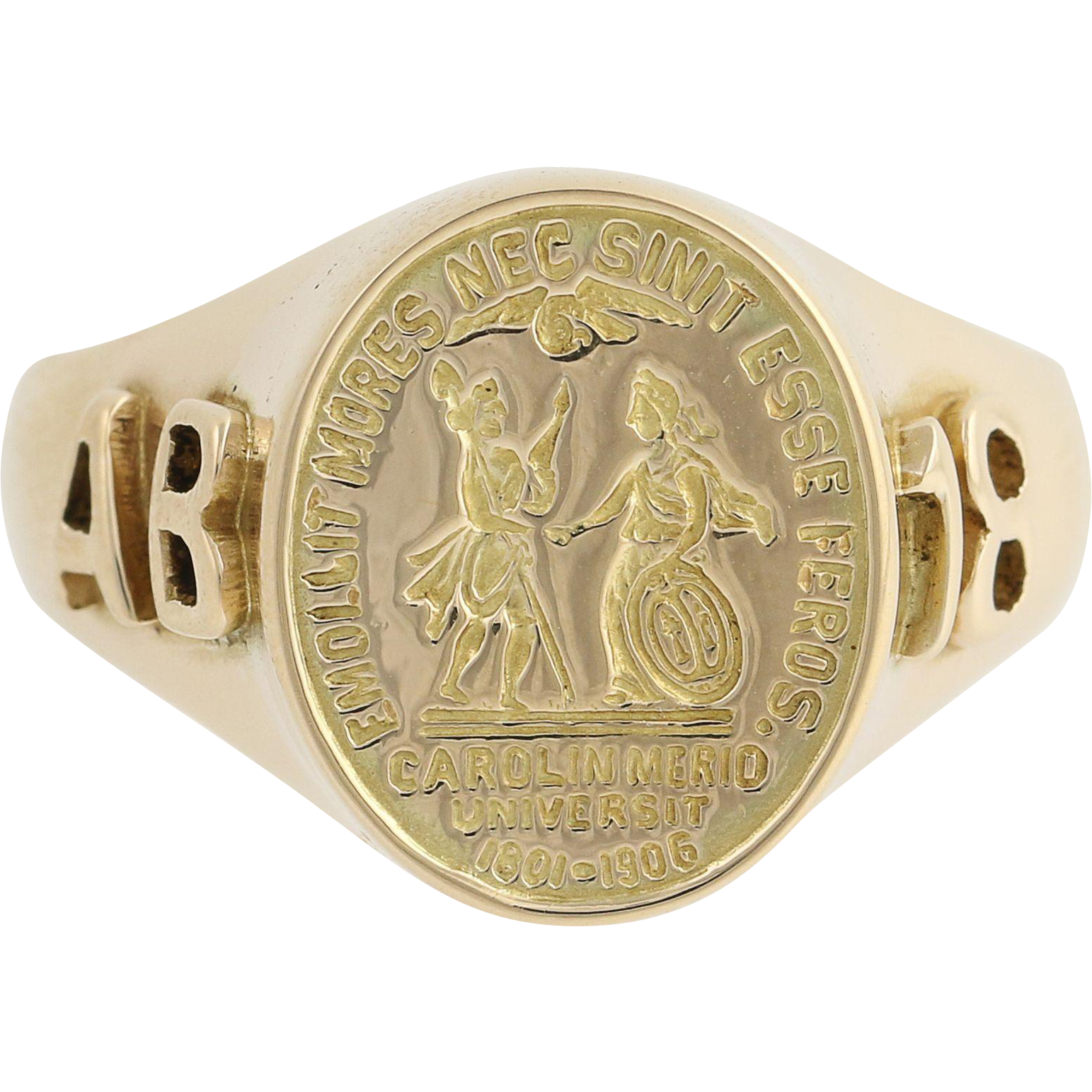 Vintage University of South Carolina Class Ring - 14k Yellow Gold Circa 1918