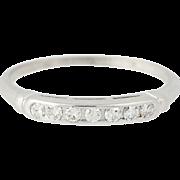 Retro Diamond Wedding Band - 14k Gold Vintage Ring Single Cut .07ctw
