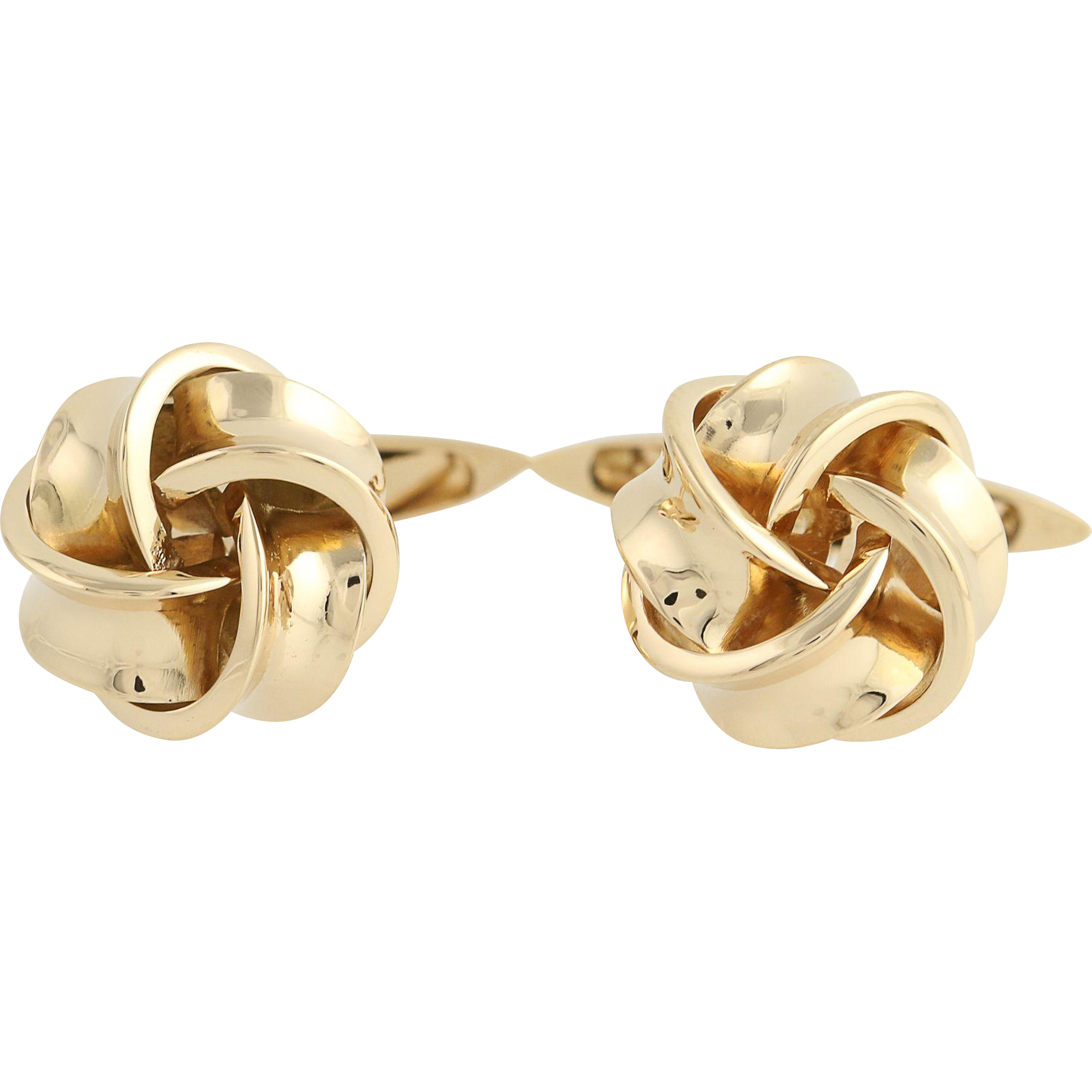 Knot Cuff Links - 18k Yellow Gold Men's Cufflinks Folding Bar