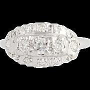 Vintage Diamond Ring - 14k White Gold Size 7 1/4 Women's .62ctw