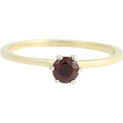 Ruby Solitaire Ring - 14k Yellow & White Gold July Birthstone .38ct