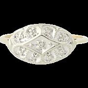Vintage Diamond Ring - 10k Yellow & White Gold Size 8 Women's .02ctw