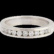 Diamond Wedding Band - 14k White Gold Channel Set Women's Ring .25ctw