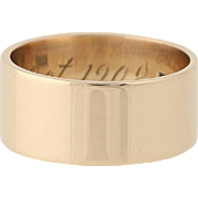 Victorian Wedding Band - 10k Yellow Gold Women's Ring Size 6 3/4 Antique
