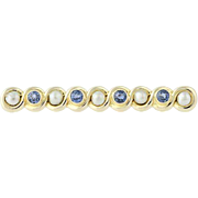 Vintage Sapphire & Pearl Brooch - 14k Gold June & September Gift