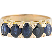 Blue Sapphire Ring - 10k Yellow Gold Women's Oval Cut 2.75ctw Birthstone