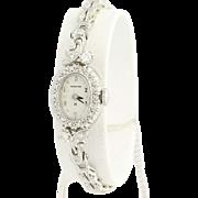 1960s Diamond Hamilton Watch - 14k Gold Mechanical Vintage .64ctw
