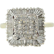 Diamond Cluster Halo Ring - 14k Yellow & White Gold Cocktail Women's 1.50ctw