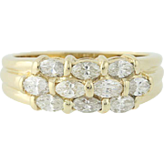 Marquise Cut Diamond Ring - 14k Yellow Gold Size 5 3/4 Women's 1.00ctw