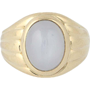 Vintage Star Sapphire Ring - 14k Yellow Gold Circa 1940 Solitaire 8.00ct