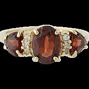 Garnet & Diamond Ring - 14k Yellow Gold January Birthstone 2.69ctw