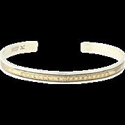 """Vintage Native American Cuff Bracelet - Sterling Silver 12k Gold Filled 6.25"""""""