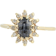 Spinel & Diamond Ring - 14k Yellow Gold Halo .99ctw
