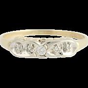 Vintage Diamond Wedding Band - 14k Yellow & White Gold .07ctw