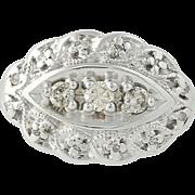 Vintage Diamond Ring - 14k White Gold Size 4 1/4 Women's .23ctw