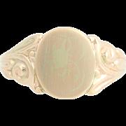 Vintage Signet Ring - 10k Yellow Gold Women's