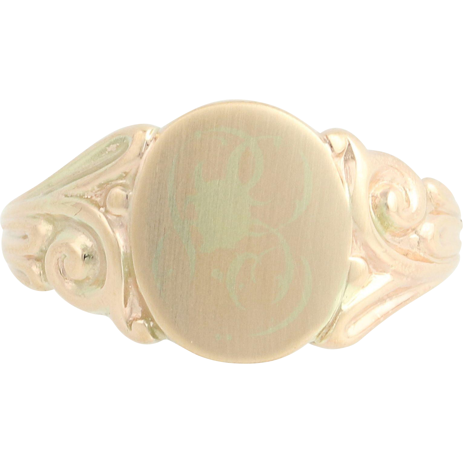 Vintage Signet Ring - 10k Yellow Gold Women's