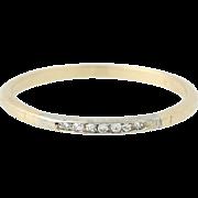 Vintage Diamond Wedding Band - 14k Yellow Gold Women's Ring