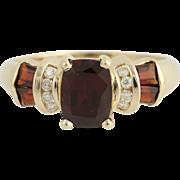Garnet & Diamond Ring - 14k Yellow Gold January Birthstone 2.28ctw