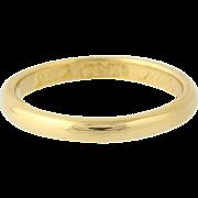 Art Deco Wedding Band - 22k Yellow Gold Vintage Women's Ring Size 6 3/4