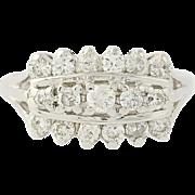 Diamond Ring - 14k White Gold Size 8 1/2 Round Brilliant Cut 1.00ctw