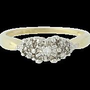 Diamond Engagement Ring - 10k Yellow & White Gold Round Brilliant Cut