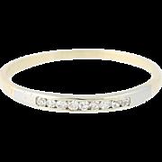 Diamond Wedding Band - 10k Yellow & White Gold Ring Women's 2-Toned