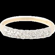 Vintage Diamond Wedding Band - 14k & 18k Gold Women's Ring Single Cut .11ctw