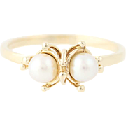 Cultured Pearl Ring - 14k Yellow Gold 4.2 - 4.3mm Women's Size 6