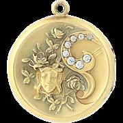 Art Nouveau Locket - Gold Filled S & B Lederer Company Women's Vintage