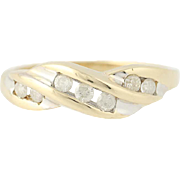 Diamond Ring - 10k Yellow Gold Size 6 3/4 Round Brilliant Cut .25ctw