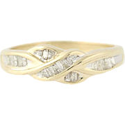 Diamond Ring - 10k Yellow Gold Women's Size 7 Baguette Cut .18ctw