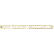 Edwardian Diamond Brooch - 14k Gold & Platinum Vintage Pin European Cut .15ctw