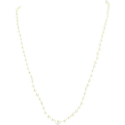 """Vintage Culture Pearl Strand Necklace - 14k White Gold Filigree Clasp 18"""""""