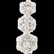 Flower Pendant - 10k White Gold Diamond Accented Journey Drop