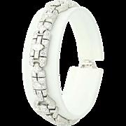 "Art Deco Diamond Bracelet 6 1/2"" - 900 Platinum Vintage Marquise 7.13ctw"
