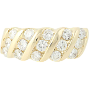 Diamond Ring - 14k Yellow Gold Size 6 Round Brilliant Cut 1.00ctw