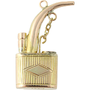 Antique Oil Can Charm - 14k Yellow Gold Three-Dimensional