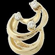 Diamond Pendant - 14k Yellow & White Gold .06ctw