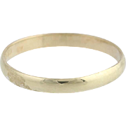Baby Ring - 10k Yellow Gold Vintage Polished Band Small Size
