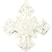 Reed Barton 1976 Christmas Cross Ornament Pendant Sterling Silver Ornate Holiday