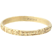 Ornate Floral Baby Child Ring - 10k Yellow Gold Antique Ostby